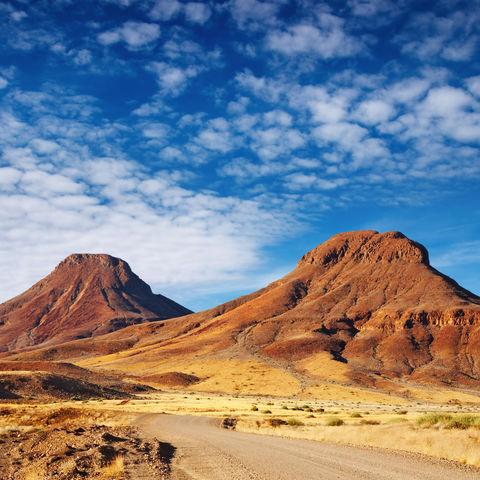 Weg durch die Kalahari-Wüste, Namibia
