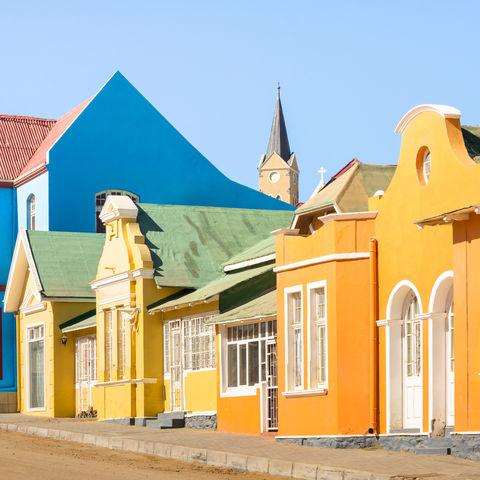 Bunte Häuser in Lüderitz, Namibia
