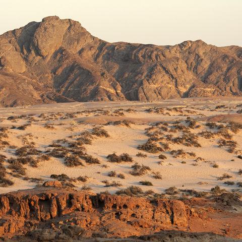 Felsen in der Namib-Wüste, Namibia