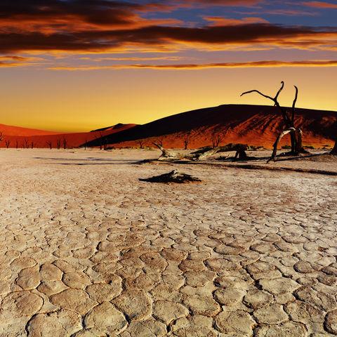 Sonnenaufgang im Sossusvlei, Namibia