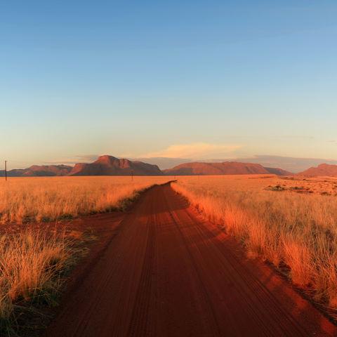 Straße bis zum Horizont, Namibia
