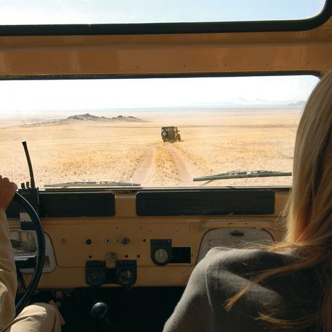Mit dem Auto durch die Wüste, Namibia