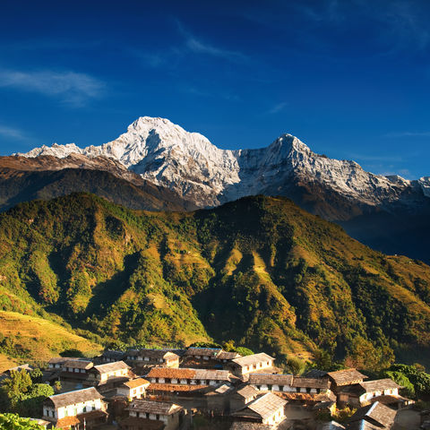 Dorf in Annapurna, Nepal