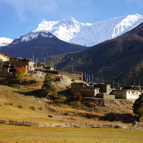 Dorf in ländlicher Gegend, Nepal