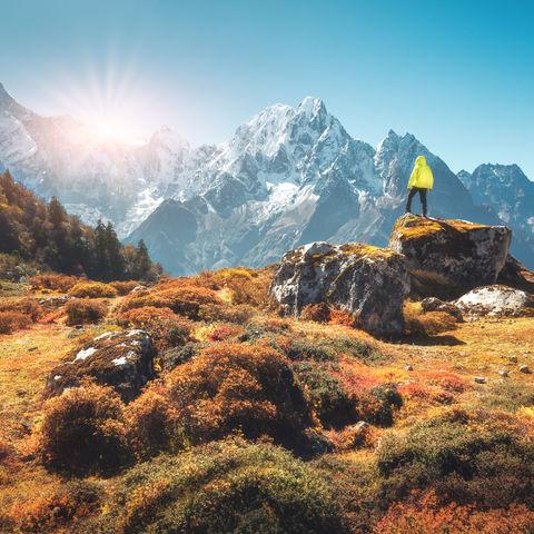 Wanderer bei Sonnenuntergang im Himalaya © Denis Belitskiy, Dreamstime.com