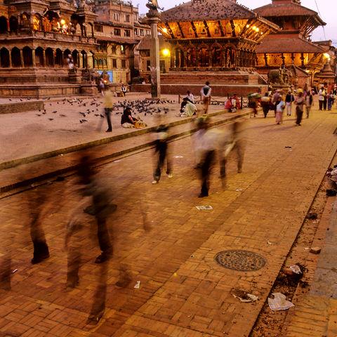 Abendstimmung auf dem Durbar Square, Nepal
