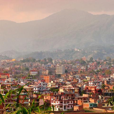 Häuser von Kathmandu, Nepal