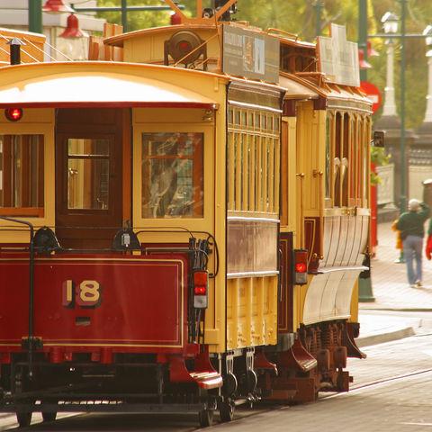 Historische Straßenbahn in Christchurch, Neuseeland
