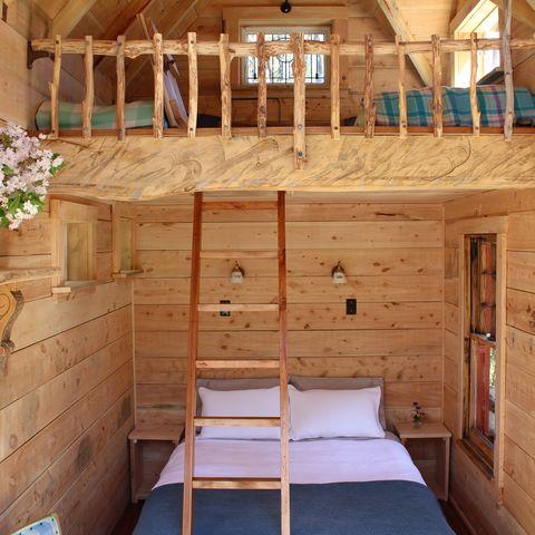Schlafbereiche, Fossickers Hut, Neuseeland