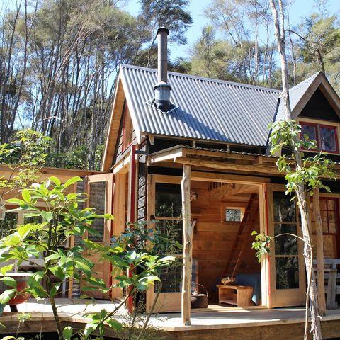 Mitten in der Natur, Fossickers Hut, Neuseeland