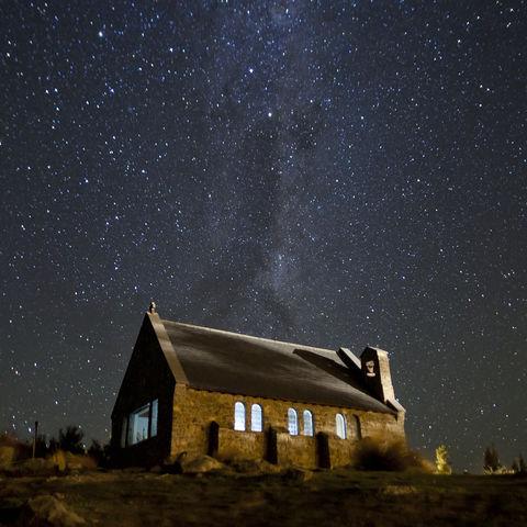 Sternenhimmel, Lake Tekapo, Neuseeland