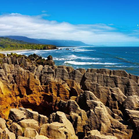 """""""Pancake Rocks"""" in Punakaiki, Neuseeland"""
