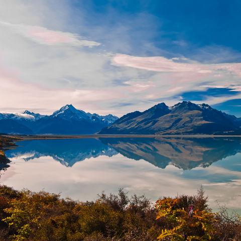 Wunderschönes Panorama mit vielfältiger Natur, Neuseeland