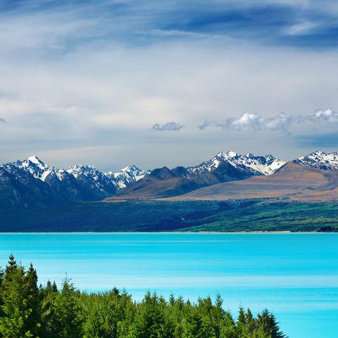 Mount Cook und der Pukaiki See, Neuseeland