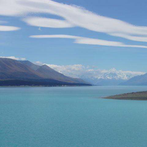 Seenlandschaft auf der Südinsel Neuseelands, Neuseeland