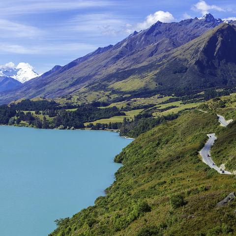 Bergpanorama am Wakatipu-See, Neuseeland