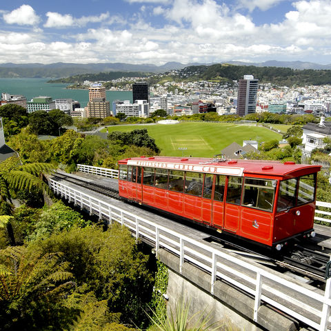 Cable Car in Wellington, Neuseeland