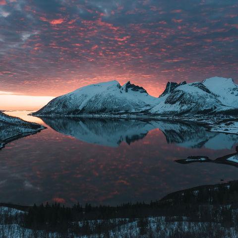 Sonnenuntergang in Norwegen @ Johan Vesters, Oceanwide.com, Norwegen