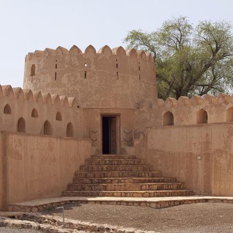Mauern einer Burg, Oman