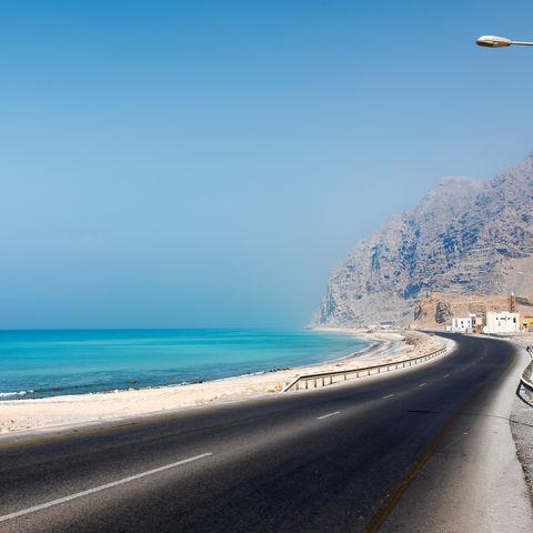 Auf dem Weg zur Hafenstadt Khasab, Halbinsel Musandam, Oman