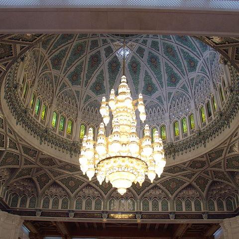 Kuppel der Großen Moschee in Muscat, Oman
