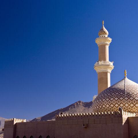 Minarett der Nizwa Moschee, Oman