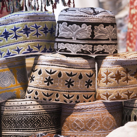 Traditionelle Kopfbedeckung der Männer, Oman