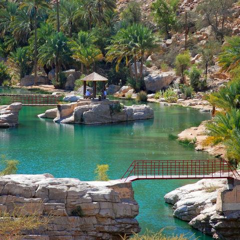 Wasserpool in, Oman