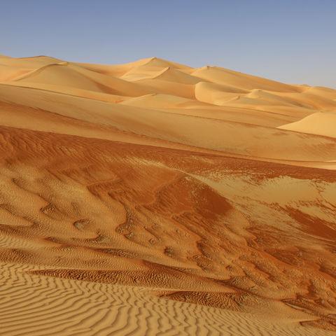 Dünen in der Wüste, Oman