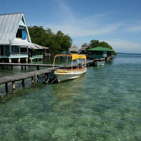 Klarer Ozean an den Bocas del Toro Inseln, Panama