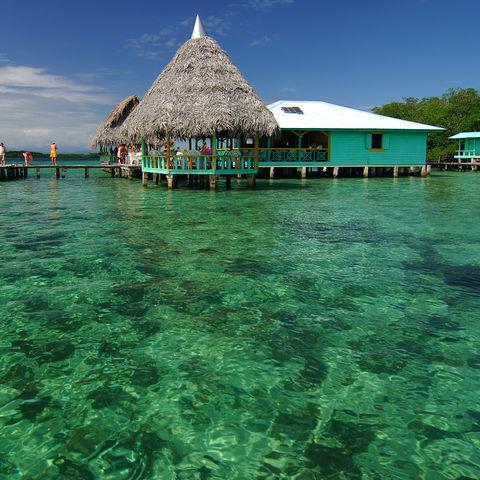 Na wenn dieses Wasser nicht mal zu einer Schnorcheltour einlädt..., Bocas del Toro, Panama