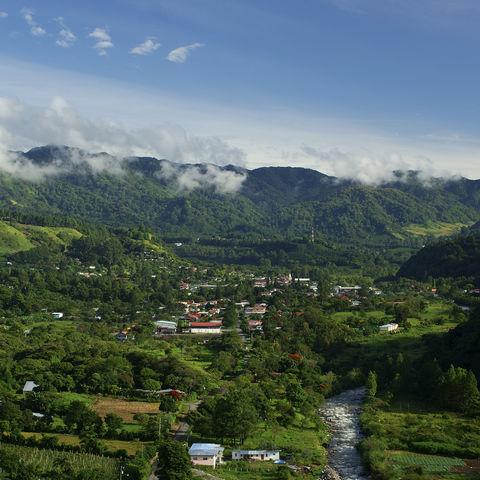 Blick auf die Stadt Boquete, Panama