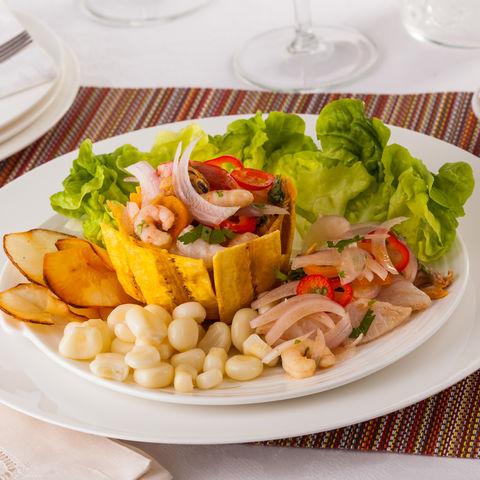 Auch in Panama lässt es sich gut speisen: Meeresfrüchte Ceviche, Panama