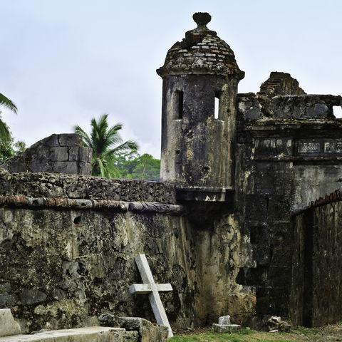 Die Ruinen von San Jeronimo in Portobelo, Panama