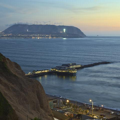 Die Küste bei Lima, Peru