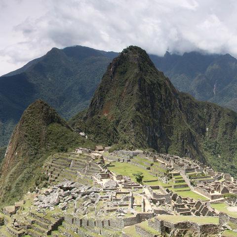 Panoramablick über Machu Picchu, Peru