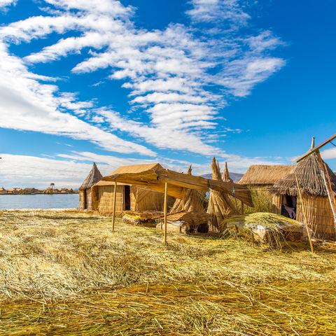 Aus Schilf bestehende Uros Inseln, Titicacasee © Vitmark, Dreamstime.com
