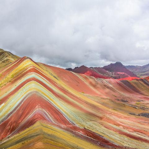 Der Berg der 7 Farben: der Rainbow Mountain, Vinicunca, Peru