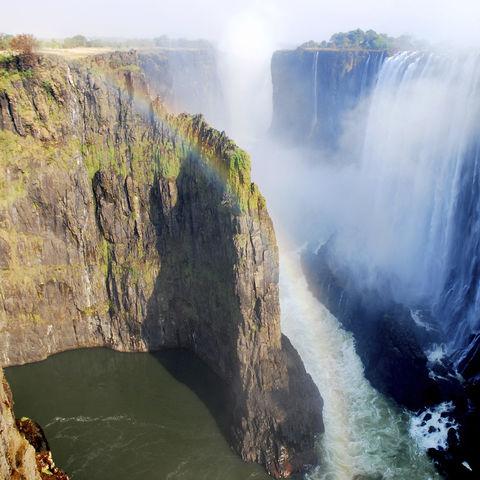 Gigantische Viktoria-Fälle, Sambia