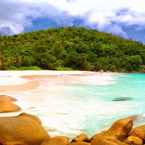 Kann es einen schöneren Strand als diesen geben? Anse Georgette, Praslin Island, Seychellen