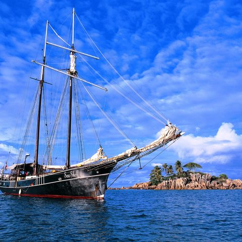 Käpt'n Ahoi! Die Sea Shell vor Anker, Seychellen