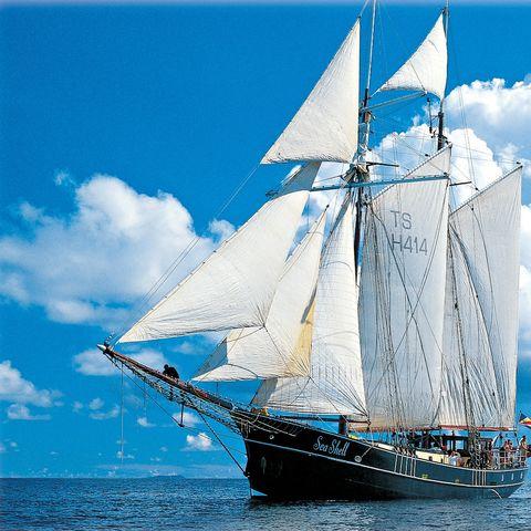 Die Sea Shell in voller Fahrt, Seychellen