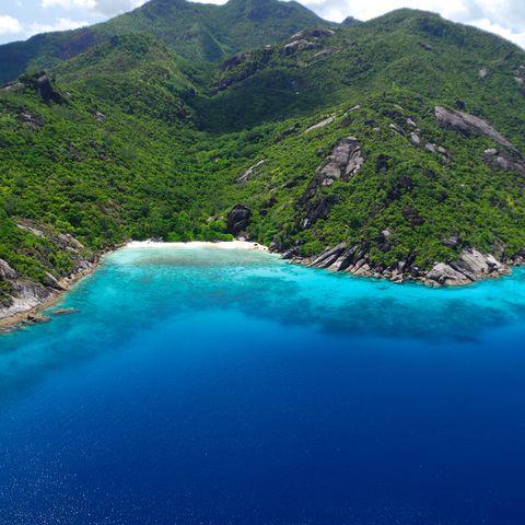 Einsame Bucht, Anse Diri an der Westküste, Seychellen