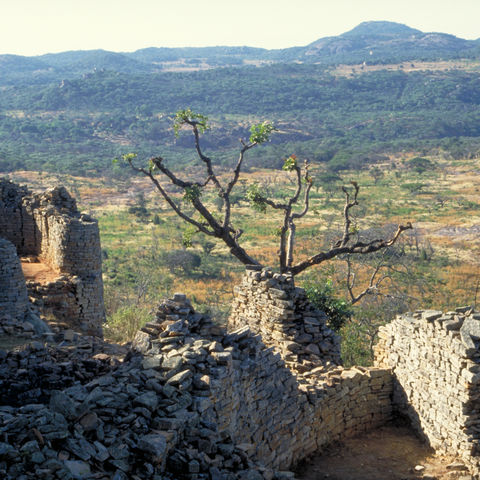 Blick über Groß-Simbabwe, Simbabwe