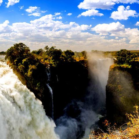 Beeindruckende Viktoriafälle, Simbabwe