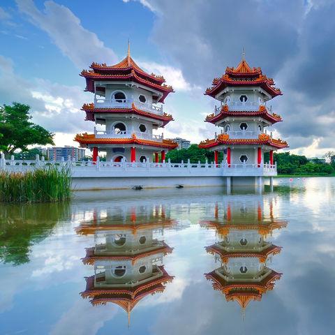 Doppelpagode im Chinesischen Garten, Singapur