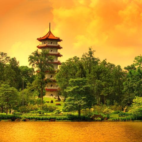 7-stufige Pagode im Chinesischen Garten, Singapur