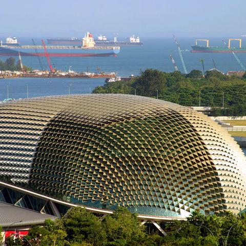 Esplanade-Theater am Singapore River, Singapur