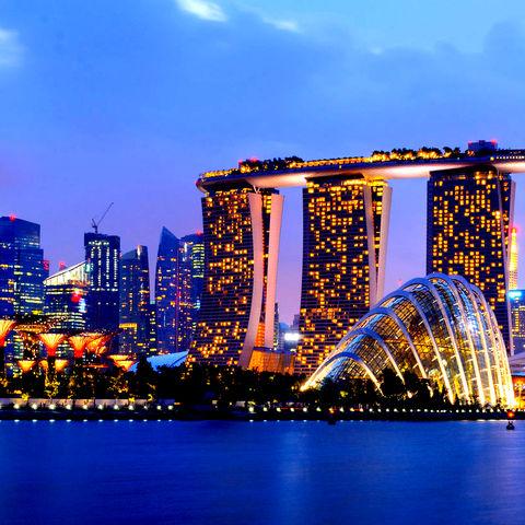 Beeindruckende Skyline von Singapur, Singapur
