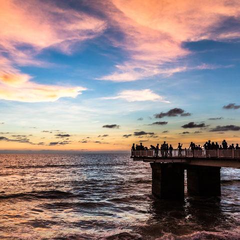 Sonnenuntergang in Colombo, Sri Lanka